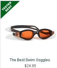"Best Swim Goggles!  These swim  earned The Best rating from the Hammacher Schlemmer Institute because they provided superior suction & leak resistance. Watertight seal"" and ""not allowing any leakage after 10 laps,"" unlike lesser models that ""began to leak after only two laps.""  ""Fit like a glove"" and were ""easy to slip on and off,""Unlike other goggles that were ""difficult to adjust,"" Has a button that quickly loosens or tightens the strap, Tinted polycarbonate lenses,  blocks UV rays"