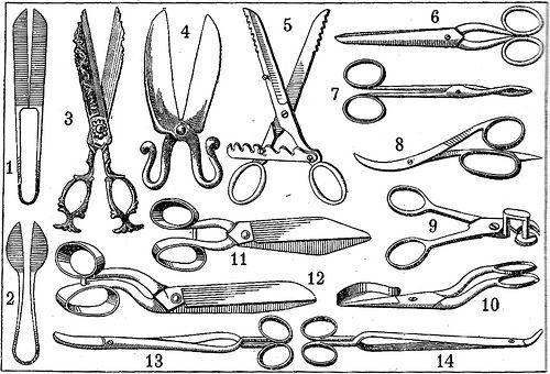 Scissor Illustration from Larousse 1928