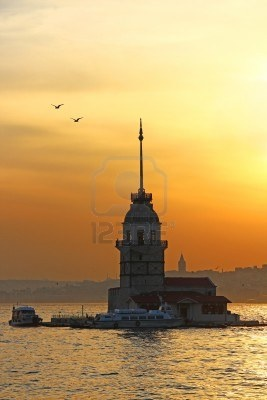 Maiden's Tower At Sunset, Istanbul, Turkey Royalty Free Stock Photo, Pictures, Images And Stock Photography. Image 14781930.
