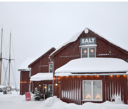 The SALT house in winter coat