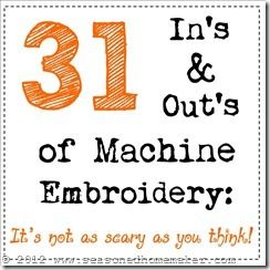 In's and Out's of Machine Embroidery