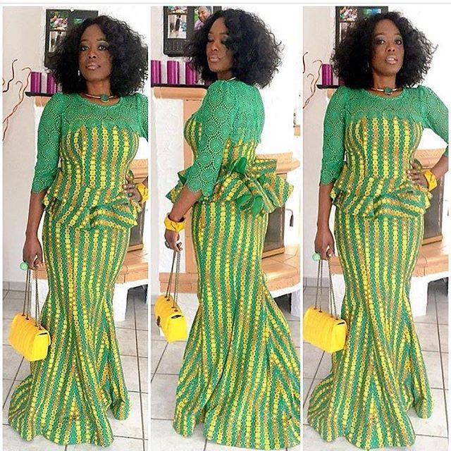 I Love This Lovely Gown Ankara And Lace Styles - DeZango Fashion Zone