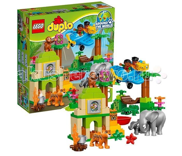 Конструктор Lego Duplo 10804 Лего Дупло Вокруг света Азия  Конструктор Lego Duplo 10804 Лего Дупло Вокруг света: Азия  Непроходимые азиатские джунгли таят в себе множество загадок. Чтобы познакомиться с их экзотическими обитателями, нужно воспользоваться услугами опытного гида, который предложит несколько вариантов путешествий. Можно отправиться к стенам древнего храма, окружённого высокими деревьями и лианами. В его многочисленных залах живут проворные обезьянки, которые с огромным…