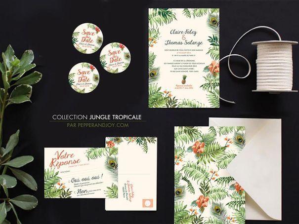 Faire part mariage wedding invitation Pepper & Joy