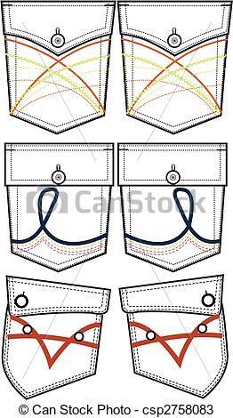 back pockets design - csp2758083