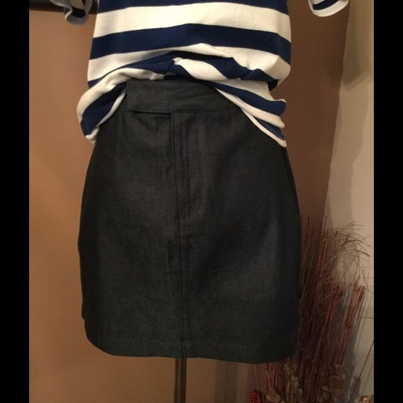 Old Navy Denim Skirt !!  NWOT!!!  Old Navy denim skirt !! NWOT!!! About 16 inches length !! 5 inch zipper and button and hook closure !! 100% cotton so wash and dry !! Easy !!  Old Navy Skirts Mini