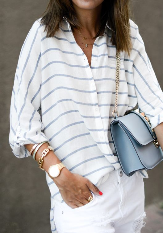 White + stripes