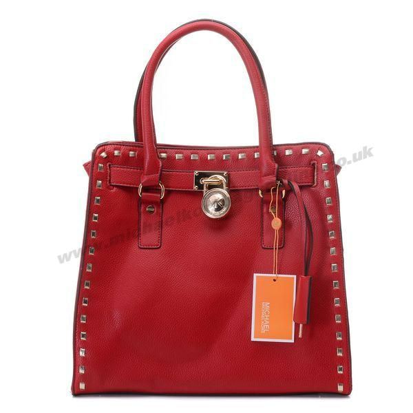 Buy Michael Kors Large Hamilton Whipstitch Tote Bordeaux Stud-trim Leather  New from Reliable Michael Kors Large Hamilton Whipstitch Tote Bordeaux Stud-trim  ...