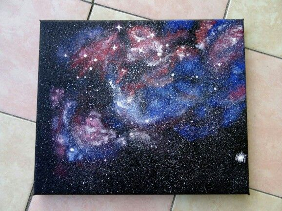 The newest artwork, galaxy painting :)