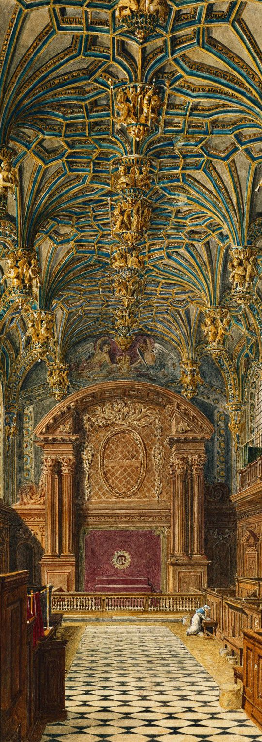 Chapel in Hampton Court Palace - London Borough of Richmond upon Thames. England
