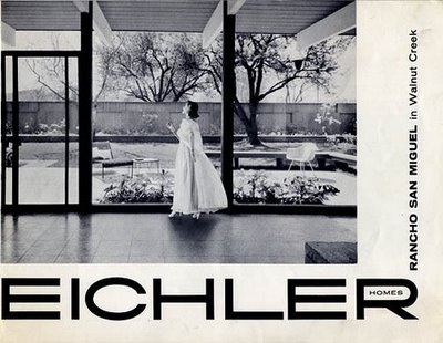 The Cover of the marketing brochure for our Eichler development at Rancho San Miguel in Walnut Creek from the late 50's
