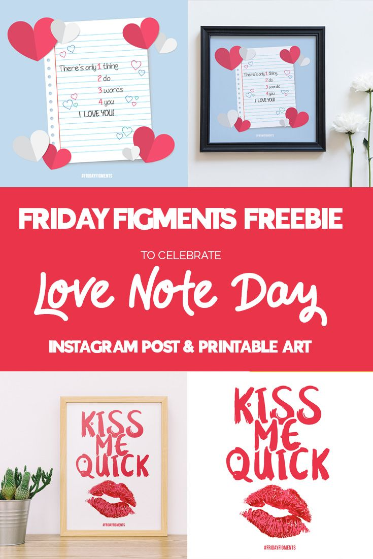picture regarding Printable Love Note called Free of charge PRINTABLE Artwork Towards Rejoice Take pleasure in Observe Working day FRIDAY