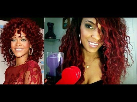Rihanna Red Hair Without Bleaching | Hair Chalk Tutorial