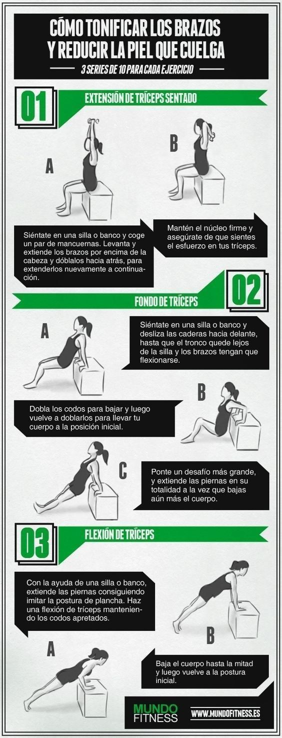 Tres series de 10 para tener unos brazos de envidia. | 21 Trucos para empezar a hacer ejercicio y no morir en el intento #pilatesparabrazos