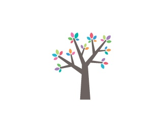 Colourful vector tree uploaded by LittleBits check it out @ LogoSelecta.com