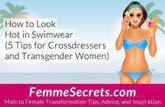 How to Look Hot in Swimwear: 5 Tips for Crossdressers and Transgender Women (Plus 8 Must-See Transgender Bikini Models!) http://feminizationsecrets.com/transgender-crossdressing-swimwear/?utm_content=buffer762c1&utm_medium=social&utm_source=pinterest.com&utm_campaign=buffer