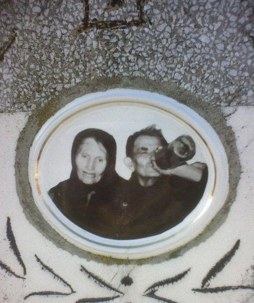 Really? THIS is the photo they used on their tombstone? hah!
