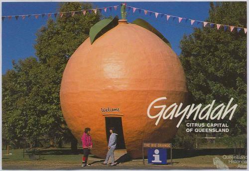 BIG ORANGE AT GAYNDAH
