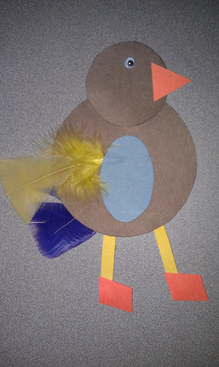 Use geometric shapes to create are pictures as well as creatures.