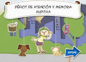Recursos Educativos: Déficit de atención y memoria auditiva