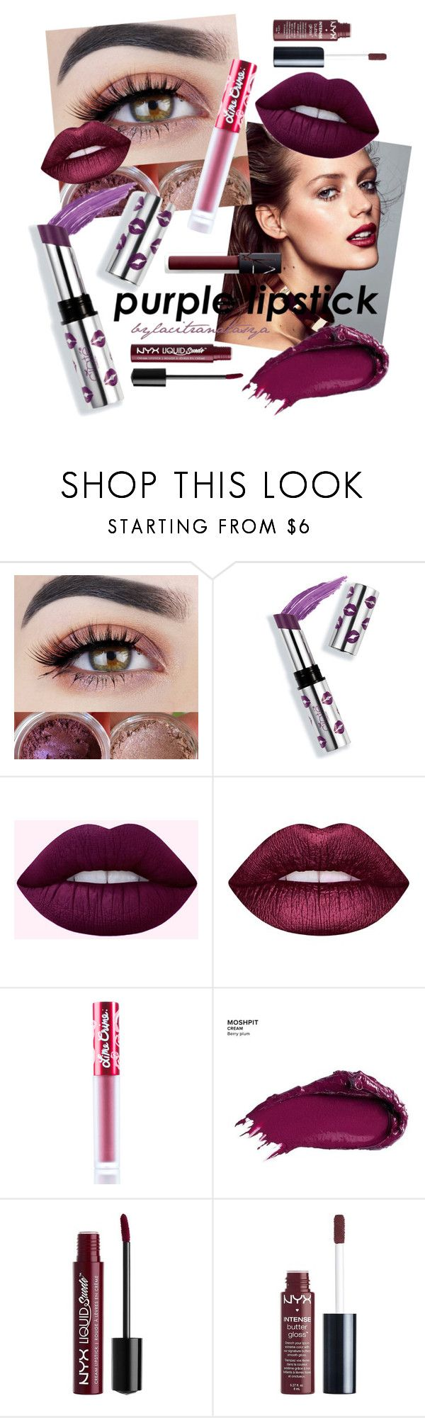 THE ROYAL // Purple Lipstick by bylacitranatasya on Polyvore featuring beauty, Ciaté, Lime Crime, Urban Decay, Charlotte Russe and NARS Cosmetics
