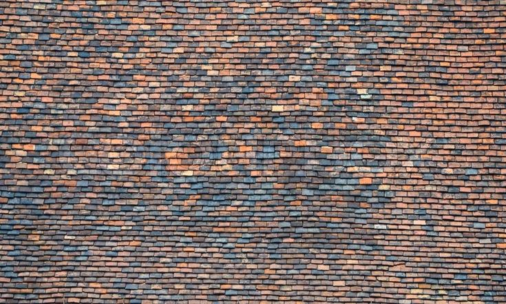 Stock image of 'Old roof tiles texture'