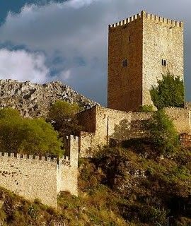 Castle of Cazorla, Jaén, Spain. The Castillo de Cazorla or de la Yedra (Ivy Castle) which is Roman in origin. It was rebuilt by the Arabs and completed by the Christians during the fourteenth and fifteenth centuries.
