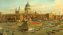 Canaletto - The Venetian painter who inspired Sundays Thames pageant to mark the Queen's Diamond Jubilee with his piece 'St Paul's overlooking the Thames'