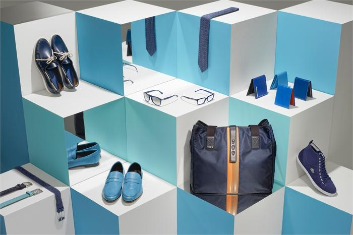 Playing with Dimensions and Mirror is intelligent. Navy | Visual Merchandising for Esquire