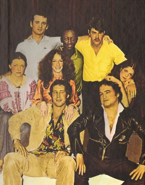SNL: original cast (Is that Bill Murry wearing the Izod?!)