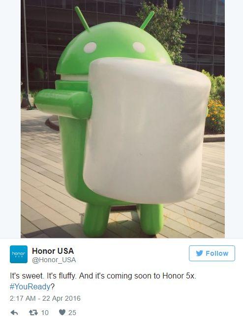 Hamarosan érkezik a Marshmallow a Honor 5X-re!  Csatasorban az utolsó Honor :)  http://vizualteszt.hu/hirek/276-hamarosan-erkezik-a-marshmallow-a-honor-5x-re.html  #Huawei #Honor #5X #Marshmallow #update #Android6 #EmotionUI4