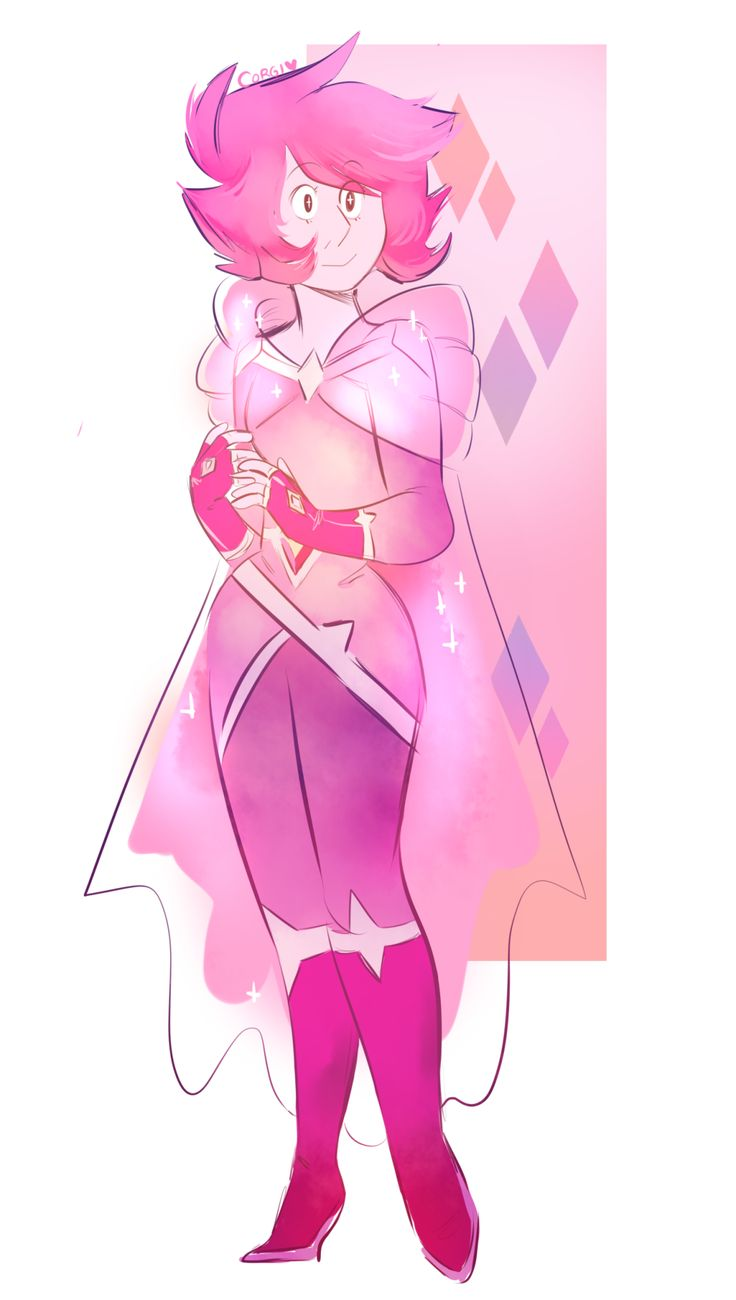 "corgiborgi: "" a more revised design i made for pink diamond! """