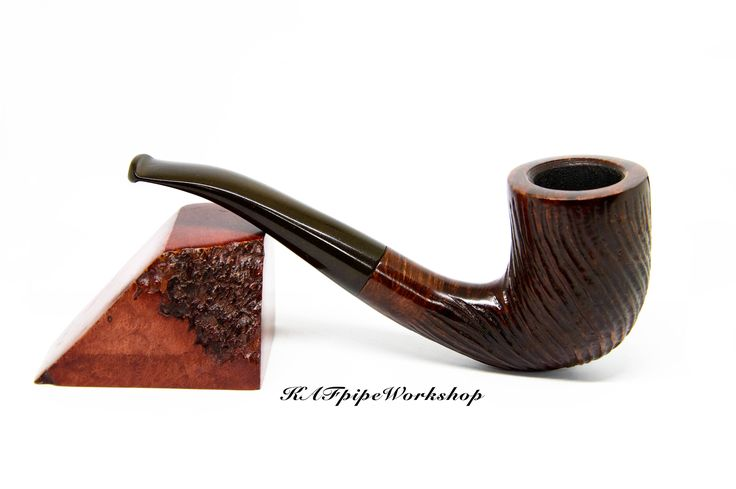 Briar Smoking pipe/Tobacco pipe #14/Hand carved and rusticated pipe/Pfeife/Briar wood pipe/Groomsmen gift/Pipa/Pipe for smoking/Best price by KAFpipeWorkshop on Etsy