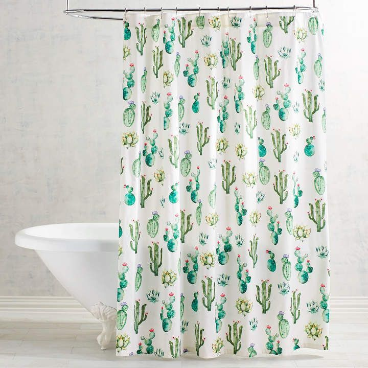 Pier 1 Imports Watercolor Cactus Shower Curtain Ad Affiliate