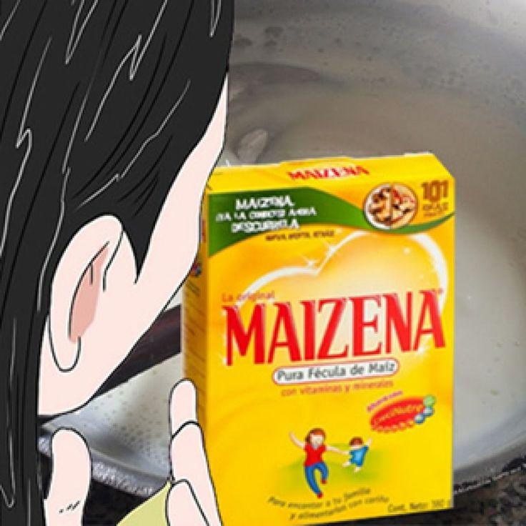 MASCARILLA DE MAICENAPARA RECOMPONER EL CABELLO
