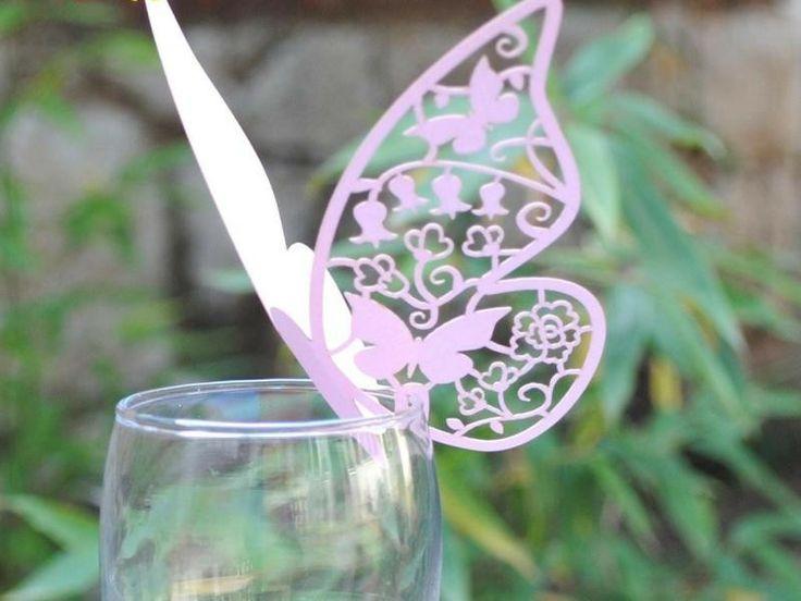 Bordkort Sommerfugl Pink