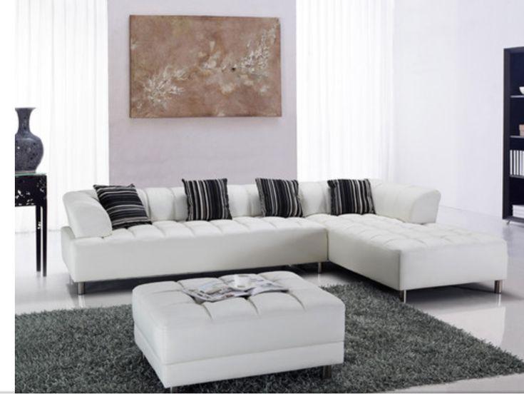 Die besten 25+ White sectional Ideen auf Pinterest Wohnzimmer - moderne wohnzimmer beige