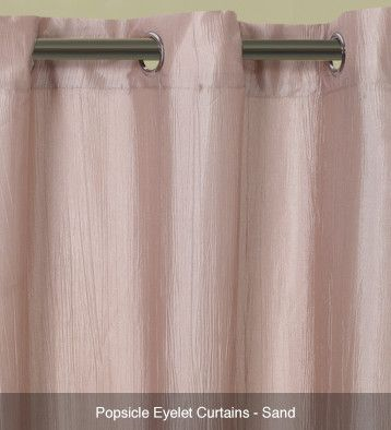 Popsicle Translucent Eyelet Curtains – Ready Made Sand #curtains