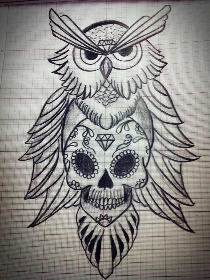 Owl tattoos image search and sugar skull tattoos on pinterest