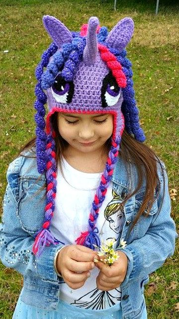 Check out this item in my Etsy shop #handmade #crochet #cute #horse #cosplay #horseart #instahorse #crochet #MLP #mylittlepony #twilightsparkle https://www.etsy.com/listing/268794248/purple-and-pink-unicorn-hat-horse-hat