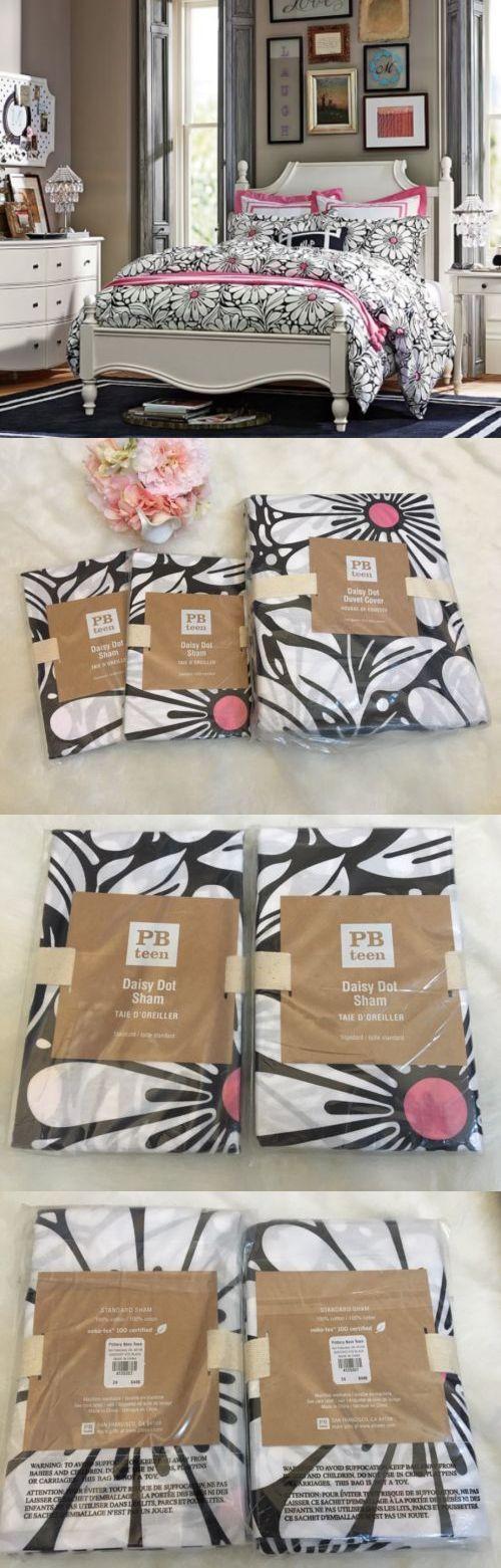 Duvet Covers 134641: New Pottery Barn Teen Black White Daisy Dot Full Queen Duvet Cover And 2 Shams -> BUY IT NOW ONLY: $124.99 on eBay!