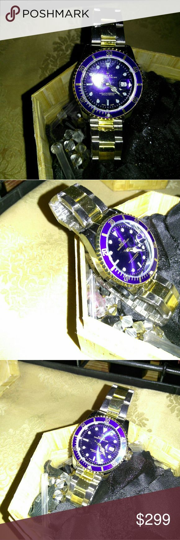 Rolex Submariner Watch New Rolex Watch  Good condition Sold as shown Fits nice  Price negotiable , I'll work with the proper buyer Rolex Accessories Watches
