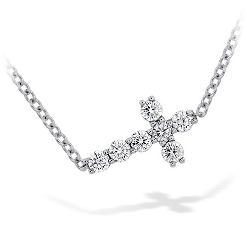 Charmed Horizontal Diamond Cross Necklace - http://bit.ly/1dIgZPh #HOFLuckyCharms
