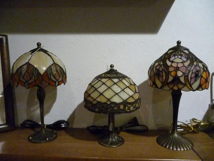 lampade Tiffany in ottone e vetro piombato