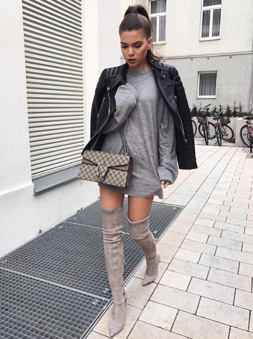 "fabulous-looks: ""Jacket» Dress» Boots» """