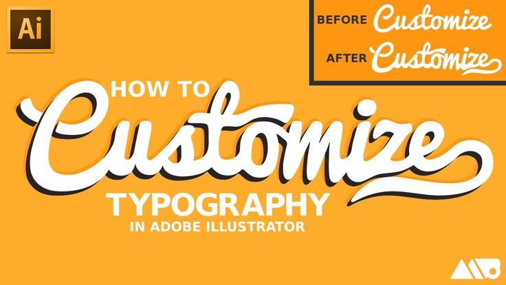 CUSTOMIZE! ;) __ Adobe Video tutorial: How to Customize Fonts in Adobe Illustrator Tutorial => http://tutorials411.com/2017/02/13/customize-fonts-adobe-illustrator-tutorial/ #photoshop #adobe #tutorial