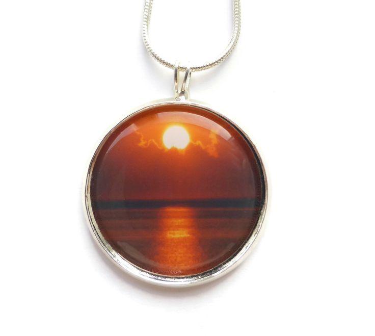 Sun Necklace, Summer Necklace, Sun Jewelry, Sun Pendant, Summer Jewelry, Sunshine Necklace, Sunset Pendant, Beach Jewelry, Handmade Jewelry by Larryware on Etsy