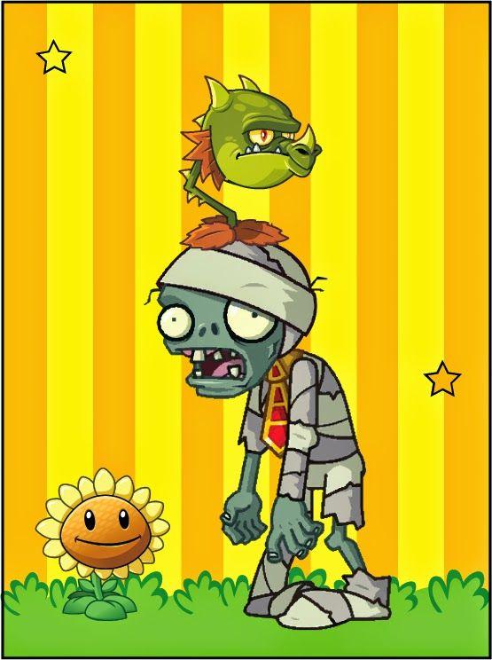Plantas vs Zombies: Imágenes, Tarjetas o Invitaciones para Imprimir Gratis.