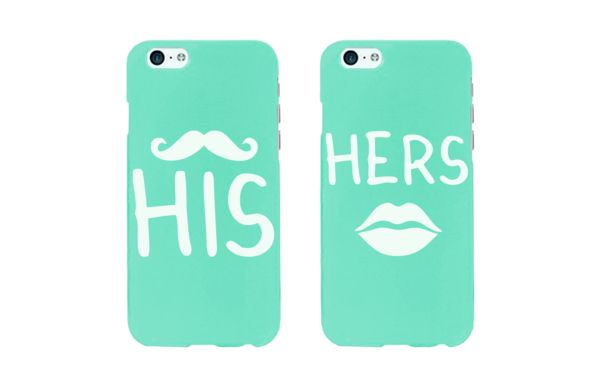 Mint Couple Phone Cases - His and Hers - for iPhone 4, iPhone 4S, iPhone 5S, iPhone 5C, iPhone 6, iPhone 6 Plus, Galaxy S3, Galaxy S4, Galaxy S5, HTC M8, and LG G3