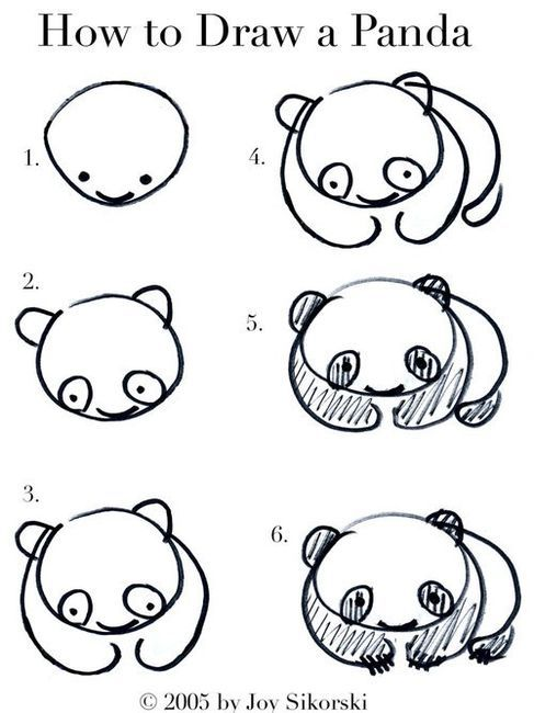 I always wanted to draw... now I will draw pandas!